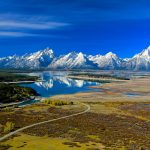 TETONS,DAM AND REFLECTIONS